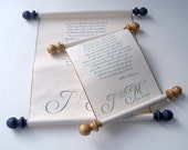 Love letter, wedding vows scroll, personalized paper scroll, anniversary gift scroll