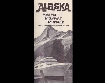 State of Alaska Marine Highway Schedule c. 1969