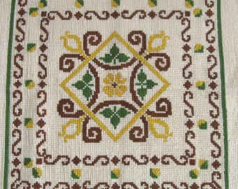 Embroidery Panel . cross stitch embroidery  .  Ukrainian embroidery . graphic embroidery . folk eembroidery