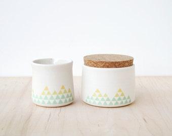 porcelain cream & sugar : SALE
