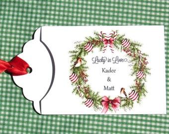 Christmas Wedding Favors | Winter Wedding Favors | Personalized Wedding Favors | Holiday Wedding Favors | Christmas Lotto Favors |