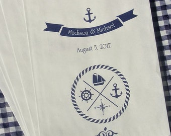 Nautical Candy Bags   Nautical Wedding   Wedding Favor Bags   Candy Buffet Bags   Nautical Favors Bags   Candy Buffet   Custom Favor Bags