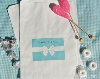 Wedding Favor Bags - Treat Bags - Aqua Blue Candy Bags -  Candy Buffet Bags -  Favor Bags - 25 Favor Bags