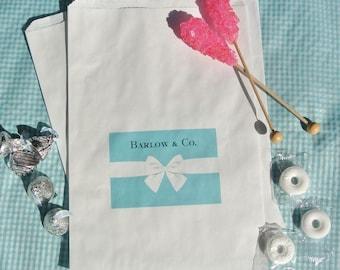 Wedding Favor Bags - Wedding Favors - Aqua Blue Candy Bags -  Candy Buffet Bags -  Favor Bags - 25 Favor Bags