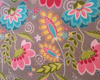 Fantine Floral on Grey Fabric by Riley Blake