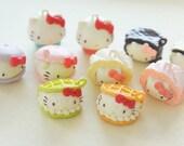 10 pcs Hello Kitty Creamy Sweets Mascot Charms AZ243