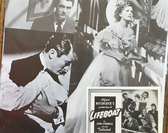 1940's Classic Alfred Hitchcock Vintage Movie Collage, Scrapbook and Planner Kit Number 2175