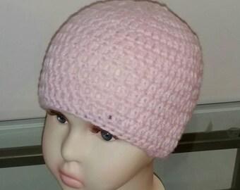 Little Girls Beanie in Pink