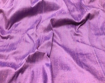 Lilac & Purple Silk DUPIONI Fabric - fat 1/4