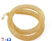 Almost Free ONLINE Video tutorial for YoolaTube Plus PDF tutorial - how to crochet a wire gold necklace using a crochet hook and  wires