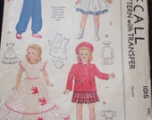 50's doll clothes pattern