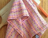 Handwoven Cotton Kitchen Towel, Chef's Towel, Dots and Dashes