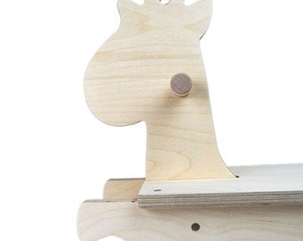 Rocking Giraffe Wooden Toy - Handmade Wooden Toy - Ride on Toy - Rocking Toy - Heirloom Furniture - Child's Rocking Toy - Giraffe Toy -TY12