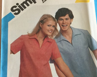 Simplicity 5226 Vintage Pullover Top Miss Size 14 , Uncut