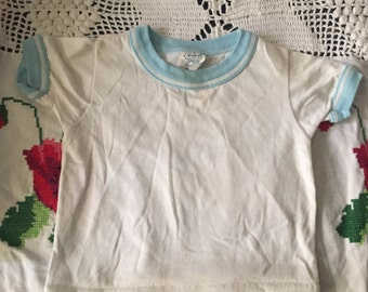 Vintage 70s Made in the USA baby ringer tshirt