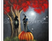 sale, Halloween Clip Art, Halloween Decor, Printable Art, Print Yourself, Fairytales, Craft Ideas, Fine Art Prints, Magical Art, Pumpkin Art