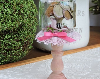 Mini Pink Fairy Jar with Snail