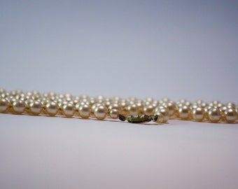 Opera Length Vintage Faux Pearl Necklace