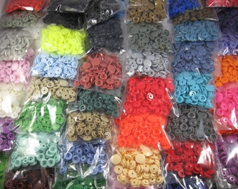 KAM Snaps  50 count packs Size 20 or T5 Glossy Up to 60 color choices
