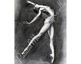 Instant Download print DANCE BALLERINA, DANCE 4.5 X 6