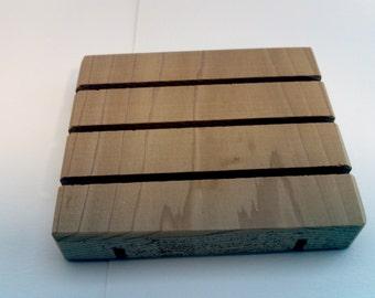 Wooden soap dish, cedar soap dish, wood soap saver