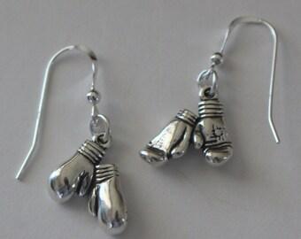 Sterling Silver BOXING GLOVES Earrings - Sports