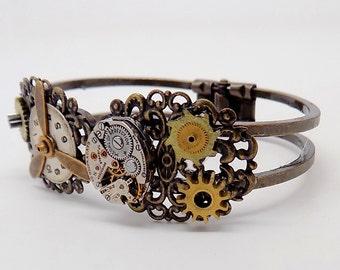 Steampunk cuff bracelet.