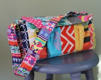 Watermelon Wishes Large Patchwork Camera Bag + Strap Cover