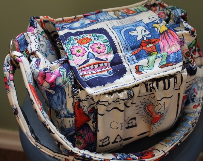Padded Compact Digital Camera Bag + Strap Cover w Lens Pocket Crossbody Style w extra divider by Watermelon Wishes