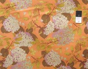Martha Negley PWMN086 Westwood Floral Mix Orange Cotton Fabric By Yard