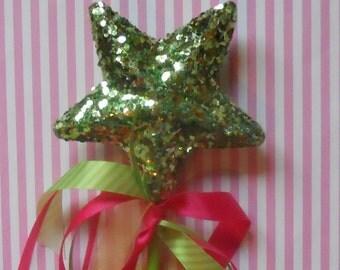 Princess Wand Bright Pink and Green