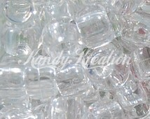 500 Crystal Clear Transparent 9x6mm Barrel Pony Beads for Bracelet Hair Kandi white diamond clear smooth round