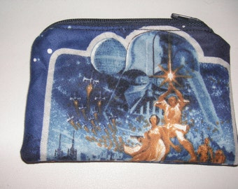 Star Wars handmade fabric coin change purse zipper pouch