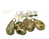 Petoskey Pendant JURASSIC Charms Fossil Beach Stone Pebbles Jewelry Bead Native Michigan Coral Powerful River Rocks