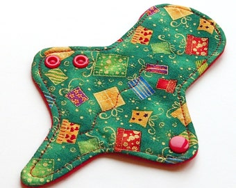 ULTRATHIN Reusable Cloth Pad 7 inch Adjustable Thong liner - Christmas Presents - Woven Cotton top