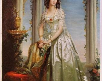 Portrait Of Grand Duchess Zinaida Yusupova - Christina Robertson hand-painted oil painting reproduction,Beautiful Girl in Gorgeous Dress Art