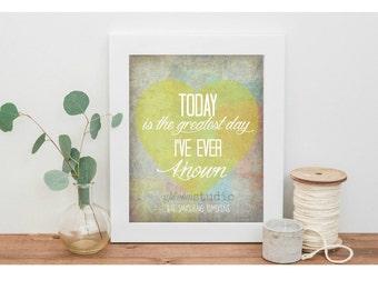 "The Smashing Pumpkins - Song Lyric Art print  ""Today""  8x10 Lyric art print, Music Lyric Art Print, Typography Print, Song Art"