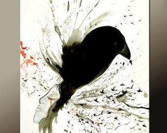 Abstract Art Print 11x14 Contemporarary Modern Bird Art Prints by Destiny Womack - dWo - If I Were a Bird