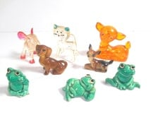 Selection of Vintage Plastic Animals - Crackers