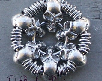 Chainmaille Skull Necklace Pendant Loved By Men And Women