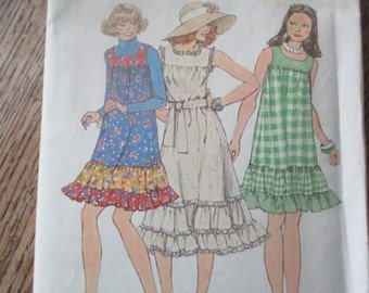 Vintage Simplicity Jumper Dress Pattern