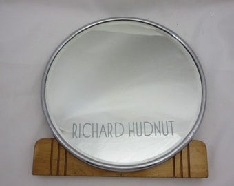 Art Deco Makeup Mirror - Richard Hudnut, Wood Base, Store Display