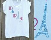 Vintage PARIS T-Shirt  // Vtg Made in France Distressed Tourist Souvenir Graphic Tee