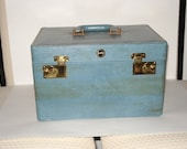 Vintage Shortrip 1950's Ladies Overnight Case with Key
