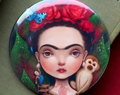 ON SALE Diegito and I pocket mirror | mexican mirror, mexican style, Frida gift, Frida pocket mirror | by Meluseena