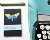 New Year Moth - Handpainted Moleskine Mini Notebook