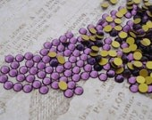 3mm Swarovski Amethyst Purple Tiny Gold Foiled Flat Back Round Glass Cabs or Stones (24 pieces)