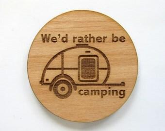 Teardrop Trailer Magnet Teardrop Camper Camping Gear Camper Decor Frig Magnet Glamper Glamping Decor Caravan Cabin Decor Road Trip Camping