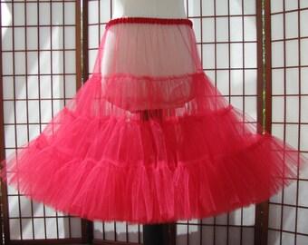 Petticoat Red Tulle -- Custom Order