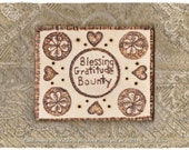 Pagan Witch Wiccan Wicca Wizard  Abundance Gratitude Blessing Prim Candleboard (Curio)